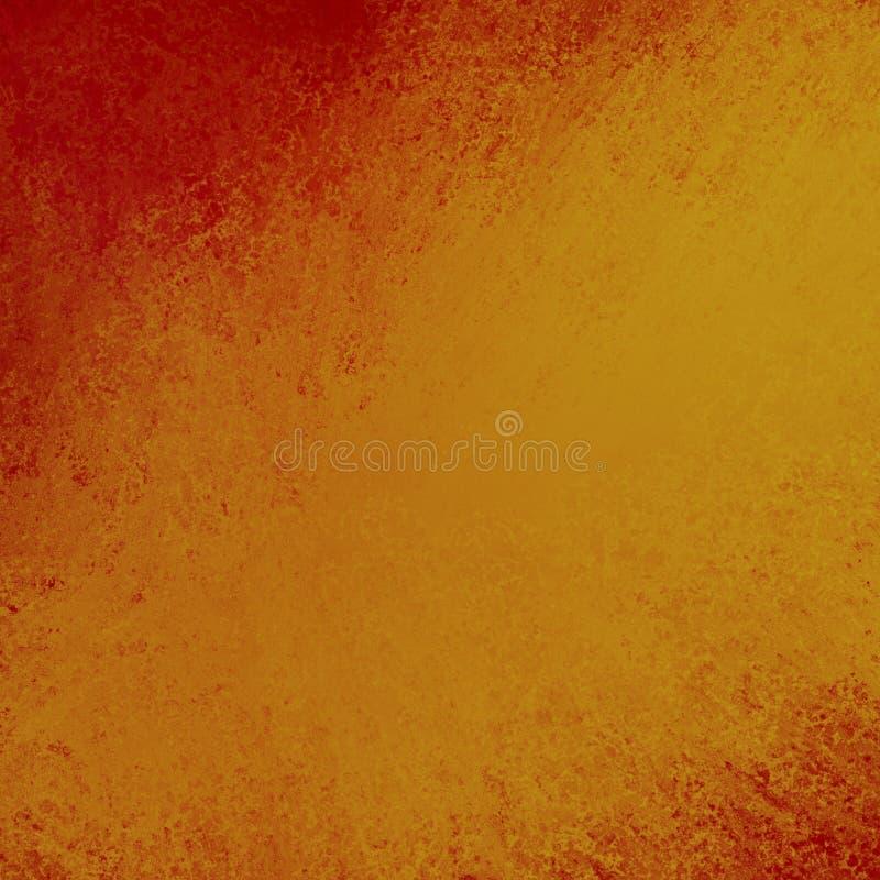 Centro goldtone del fondo arancio astratto e colori caldi arancione scuro del confine illustrazione vettoriale