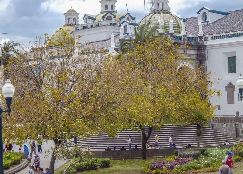 Centro histórico cuadrado de la independencia de Quito Ecuador foto de archivo