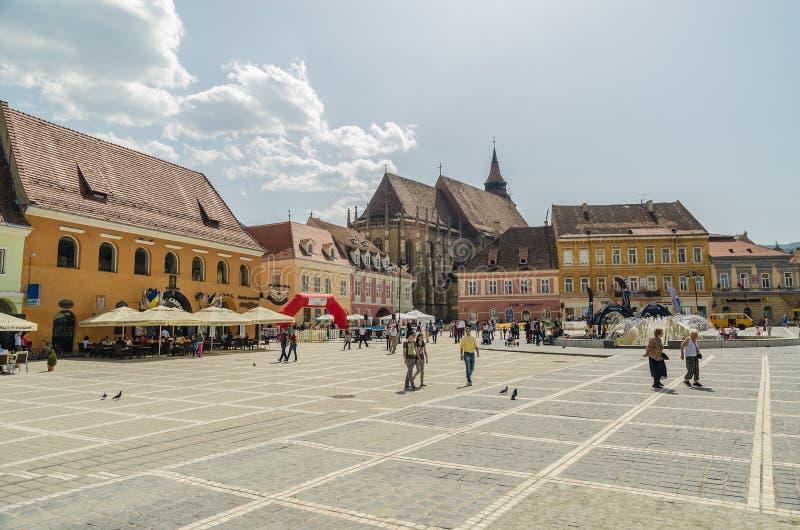 Centro histórico de Brasov fotografia de stock royalty free