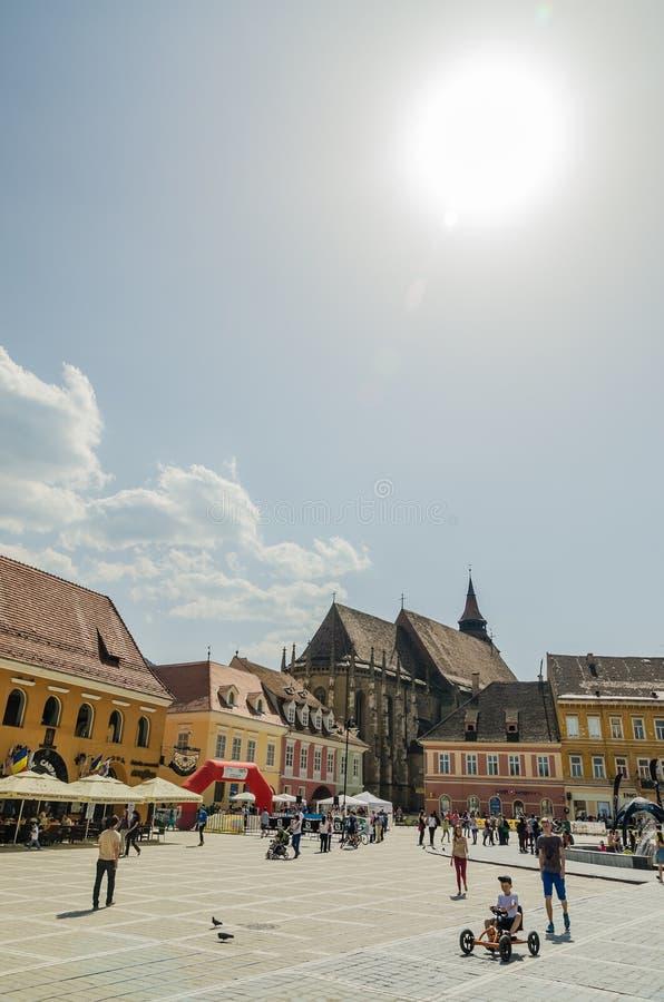 Centro histórico de Brasov fotografia de stock