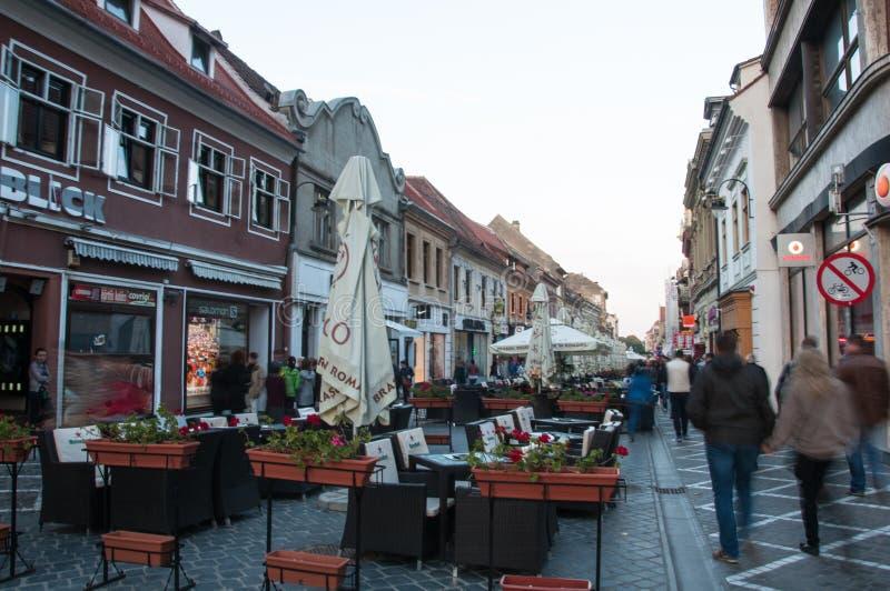 Centro histórico de Brasov imagens de stock royalty free