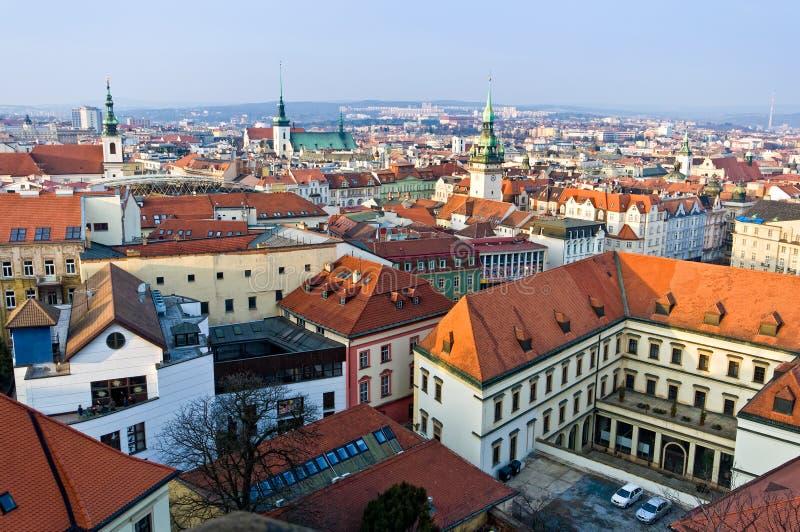 Centro histórico de Brno fotografía de archivo libre de regalías