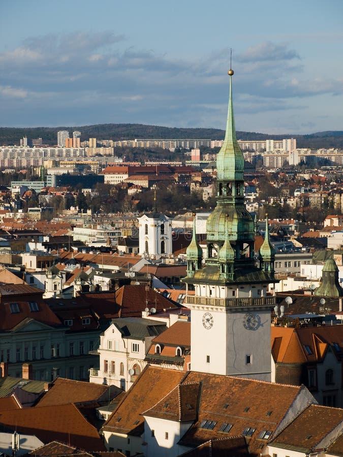 Centro histórico de Brno, república checa imagens de stock