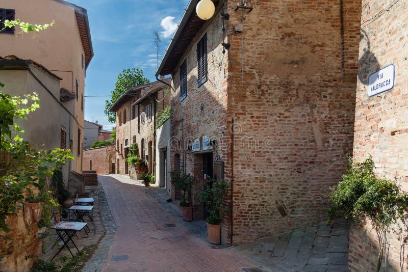 Centro histórico de Certaldo, Toscana fotos de archivo