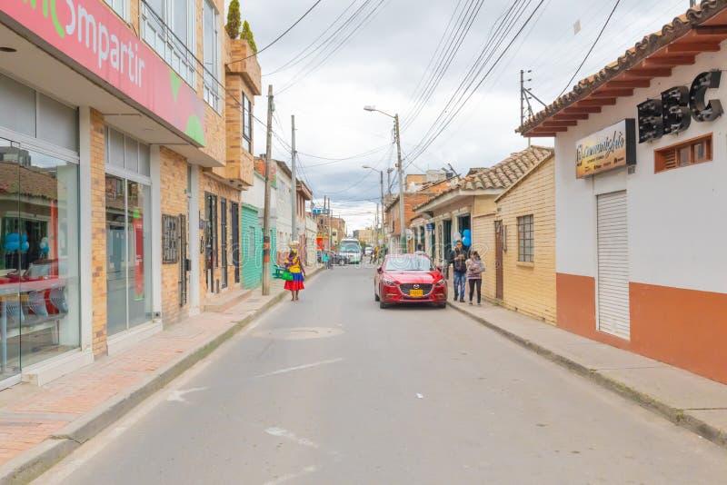 Centro histórico de Colombia Cajica imagen de archivo libre de regalías