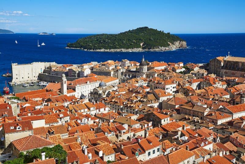 Centro histórico de Dubrovnik, Croacia fotos de archivo