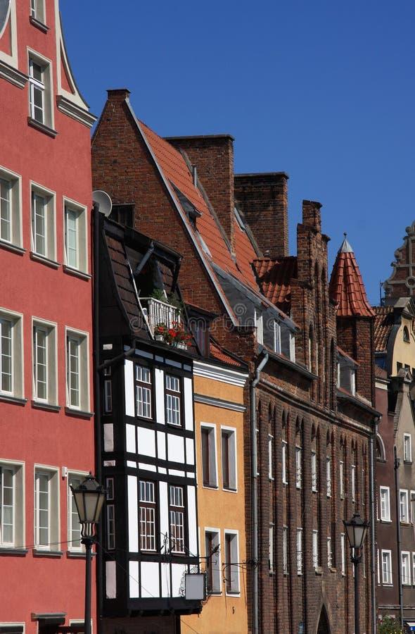 Centro histórico de Gdansk - Poland fotos de stock royalty free
