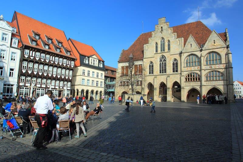 Centro histórico de Hildesheim foto de archivo libre de regalías