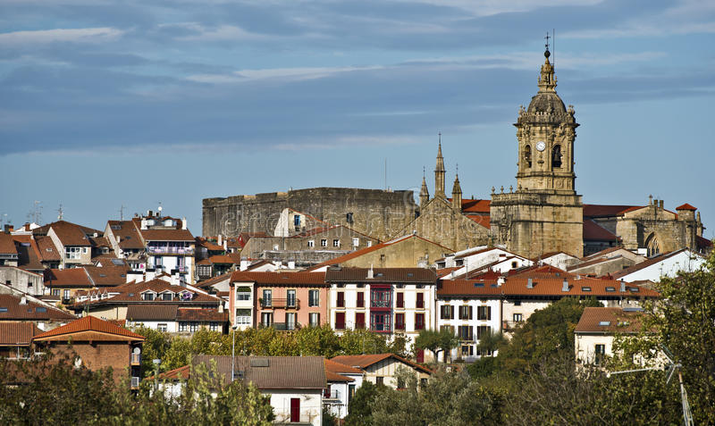 Centro histórico de Hondarribia fotos de stock royalty free