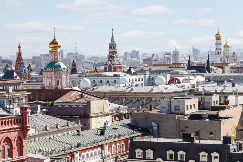 Centro histórico de la ciudad de Moscú con el Kremlin foto de archivo libre de regalías