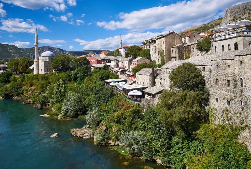 Centro histórico de Mostar, Bosnia imagen de archivo libre de regalías
