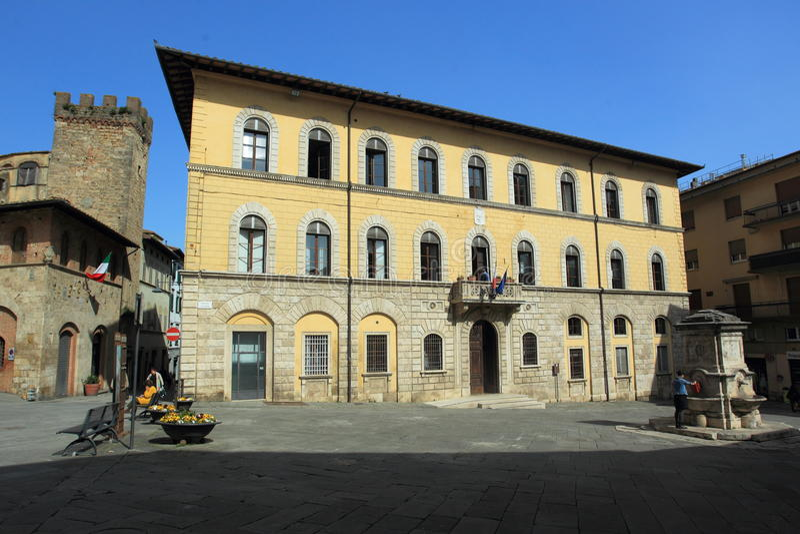 Centro histórico de Poggibonsi fotografia de stock