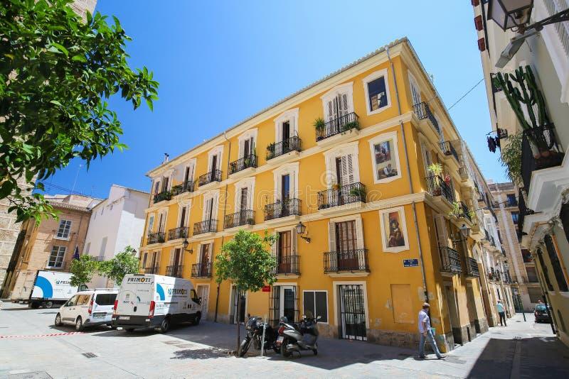 Centro histórico de Valencia fotografía de archivo