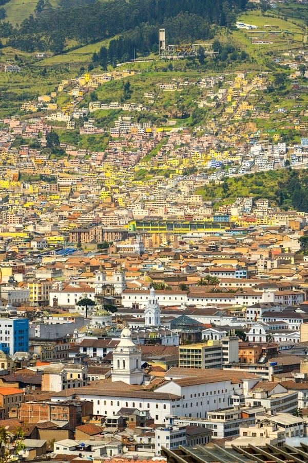 Centro histórico del capital Quito en Ecuador fotografía de archivo