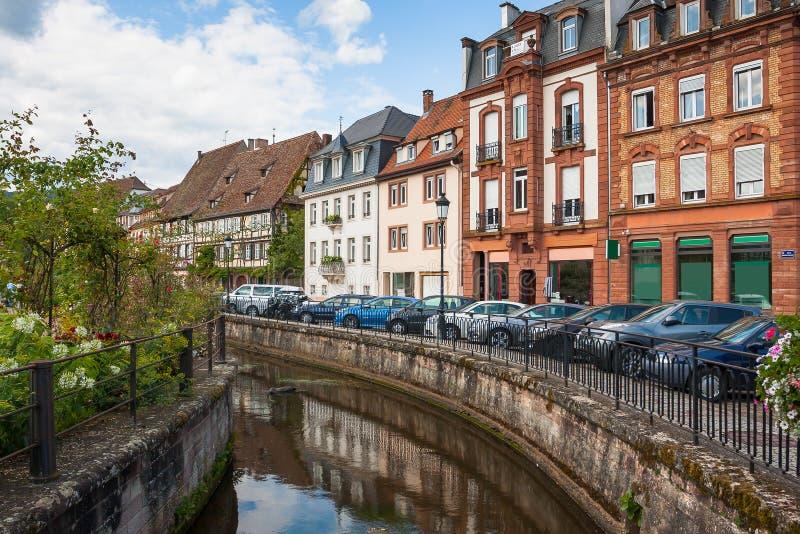 Centro histórico do Wissembourg, Alsácia, França fotografia de stock royalty free