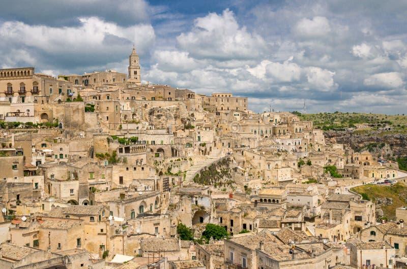 Centro histórico Sasso Caveoso, Basilicata, AIE de Sassi di Matera imagen de archivo libre de regalías