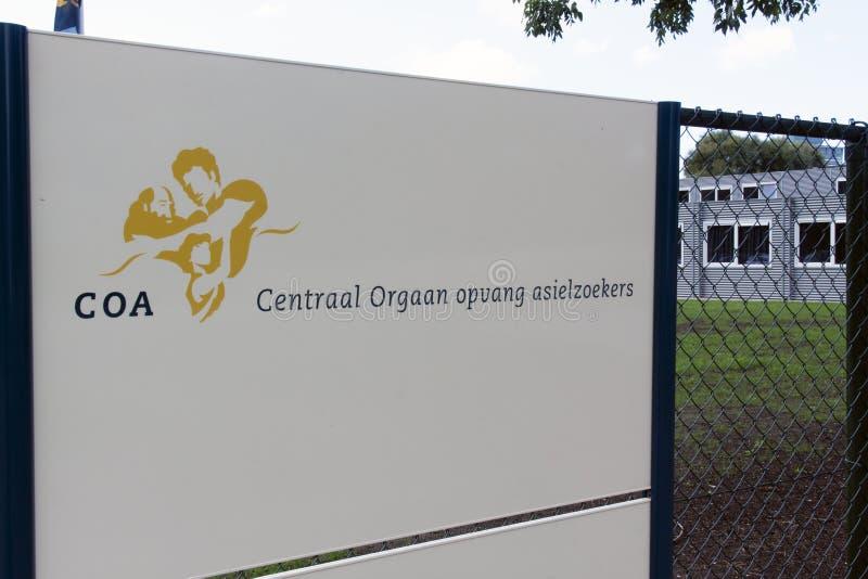 Centro holandés del COA para los solicitantes de asilo imagenes de archivo