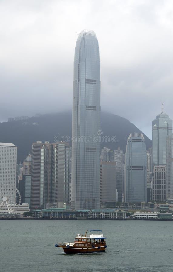 Centro Hong Kong del comercio internacional foto de archivo