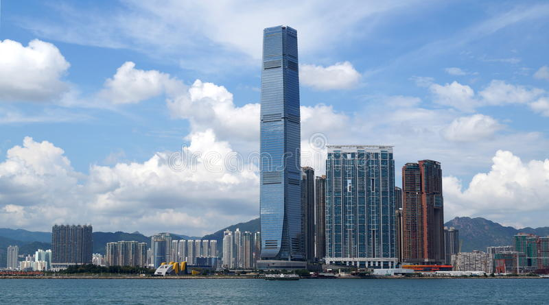 Centro internazionale di commercio Hong Kong, Cina immagine stock libera da diritti