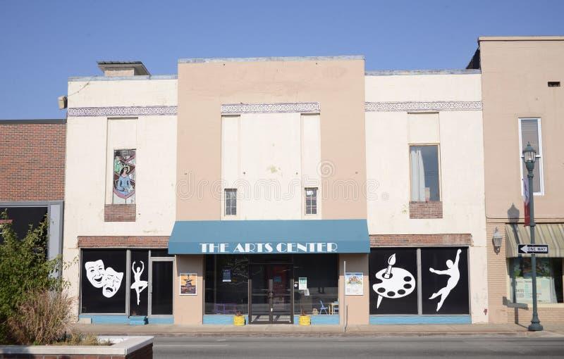 Centro Jonesboro céntrico, Arkansas de los artes fotografía de archivo libre de regalías