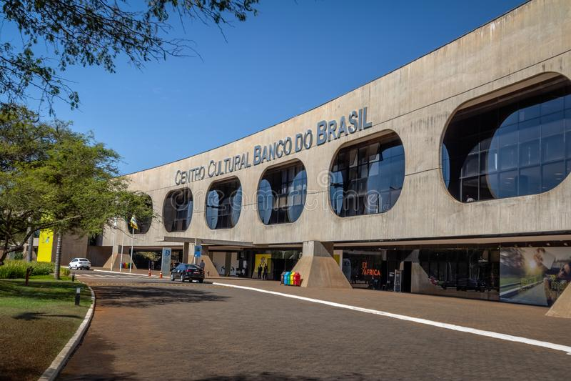 Centro Kulturalni Banco robią Brasil bank Brazylia Kulturalny centrum - Brasilia, Distrito Federacyjny, Brazylia - CCBB - fotografia royalty free