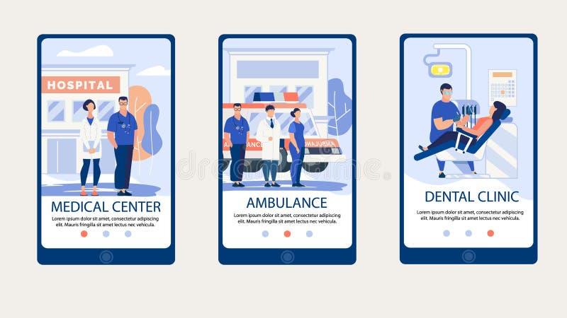 Centro médico da inscrição informativa do cartaz ilustração do vetor