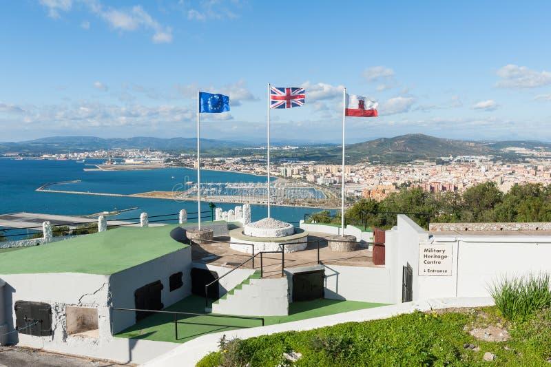 Centro militare di eredità di Gibilterra immagine stock
