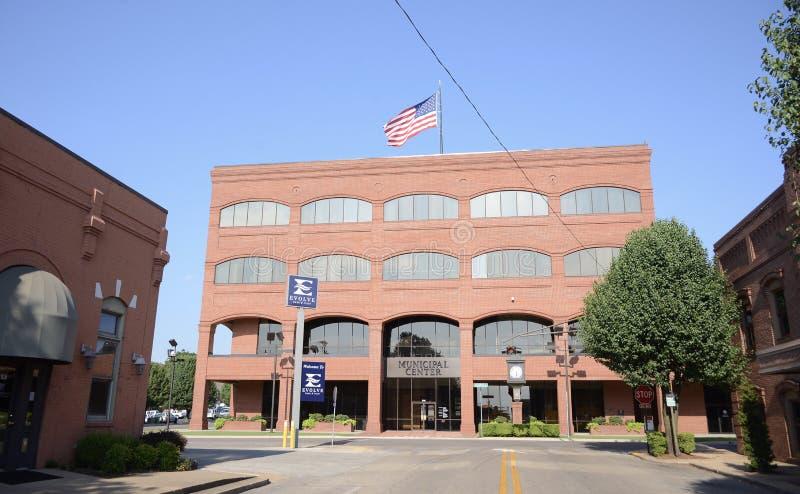 Centro municipal Jonesboro Arkansas fotos de archivo libres de regalías