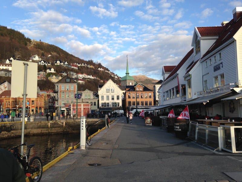 Centro na cidade de Bergen fotos de stock royalty free