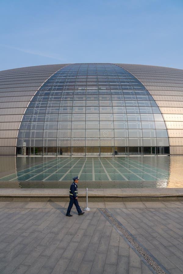 Centro nacional para artes de palco no Pequim conhecido como a construção do ovo imagem de stock
