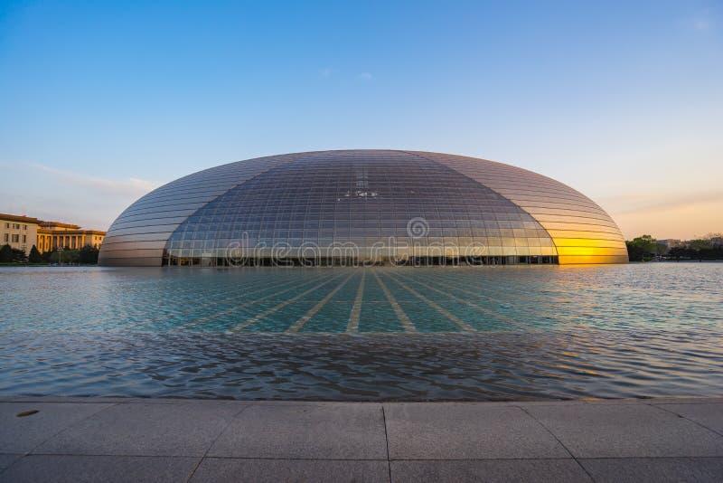 Centro nacional para as artes de palco em Beijing, China fotos de stock
