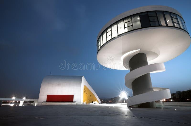 Centro Niemeyer. Centro Cultural Internacional Oscar Niemeyer stock photography