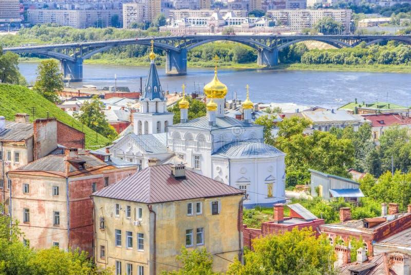 Centro Nizhny Novgorod de la visión superior fotografía de archivo libre de regalías