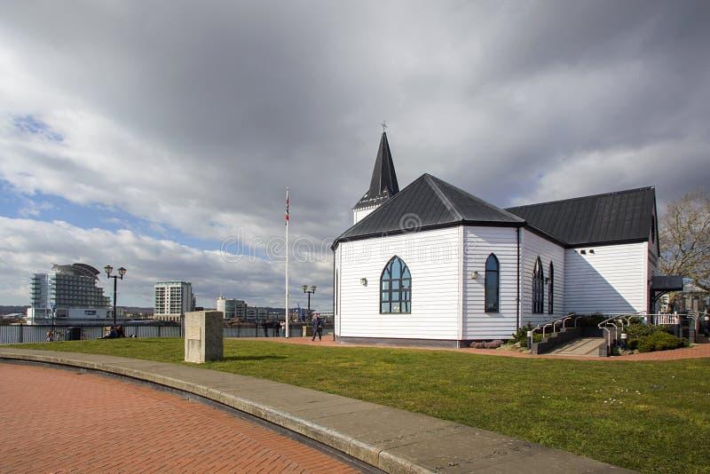 Centro norueguês Cardiff das artes da igreja foto de stock