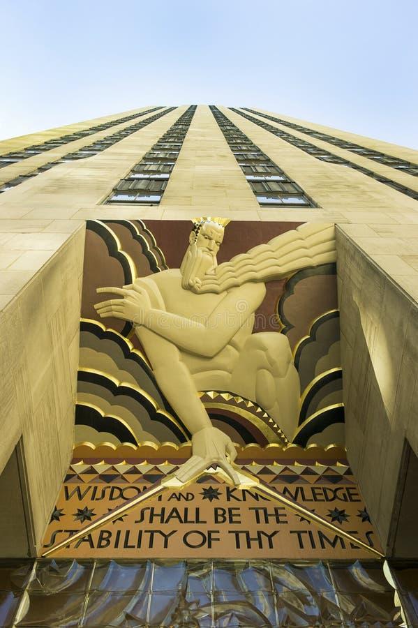 Centro NYC de Rockefeller fotografia de stock