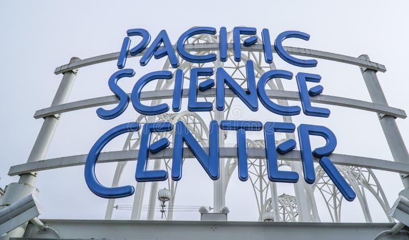 Centro pacífico da ciência em Seattle - em SEATTLE/WASHINGTON - 11 de abril de 2017 imagem de stock