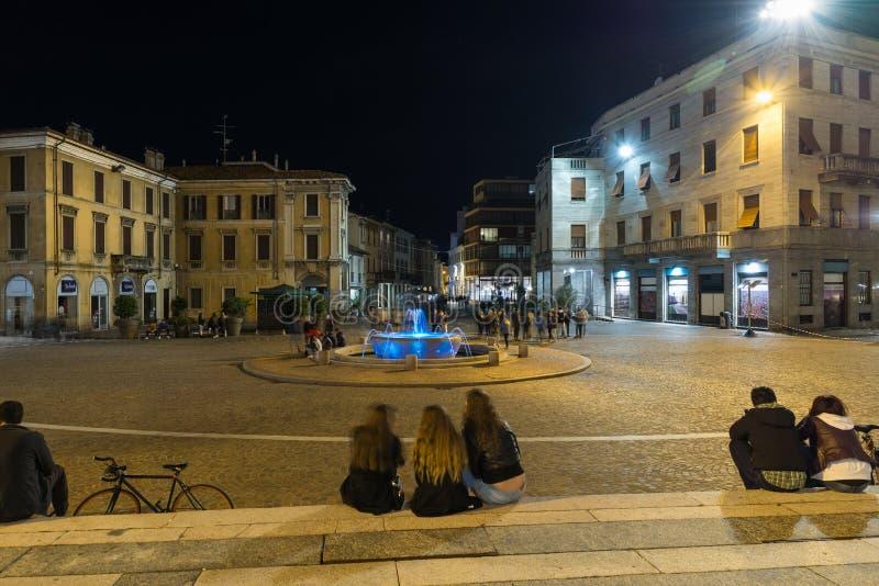 Centro storico del della Libert?, Italia della piazza?e di Gallarate fotografie stock libere da diritti