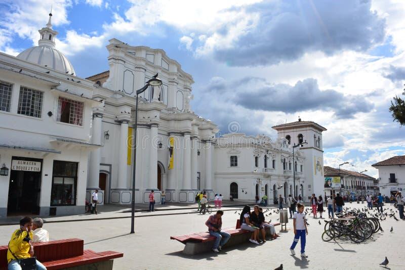 Centro storico della città coloniale del ¡ n, Colombia di Popayà immagine stock