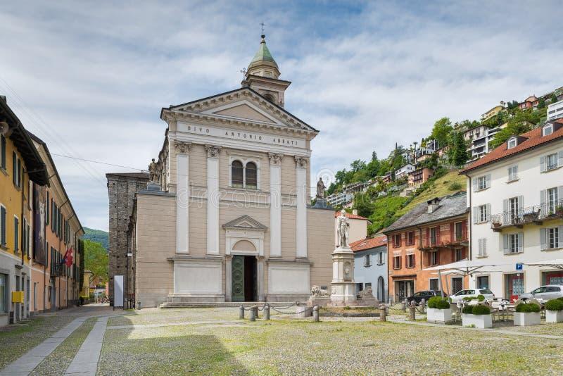"""Centro storico della città di Locarno, quadrato Sant """"Antonio, Svizzera fotografia stock"""