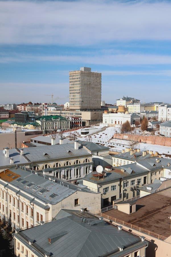 Centro storico della città, vista superiore Kazan, Russia immagini stock