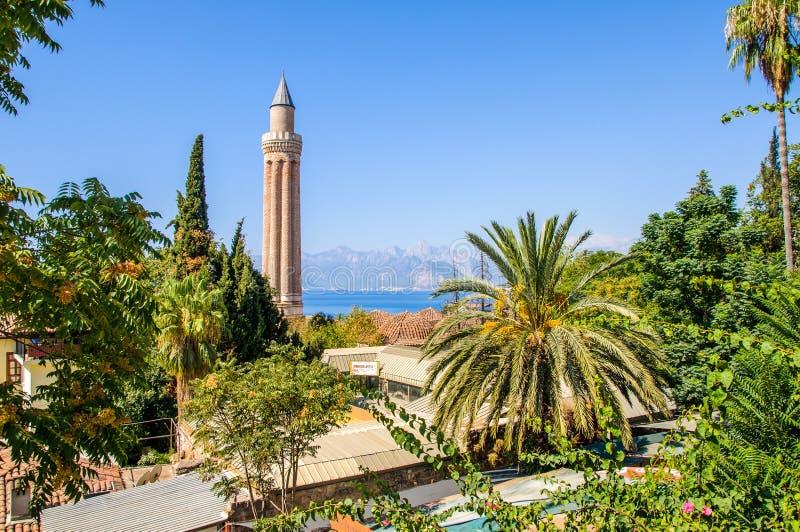 Centro storico di Adalia, Turchia immagine stock