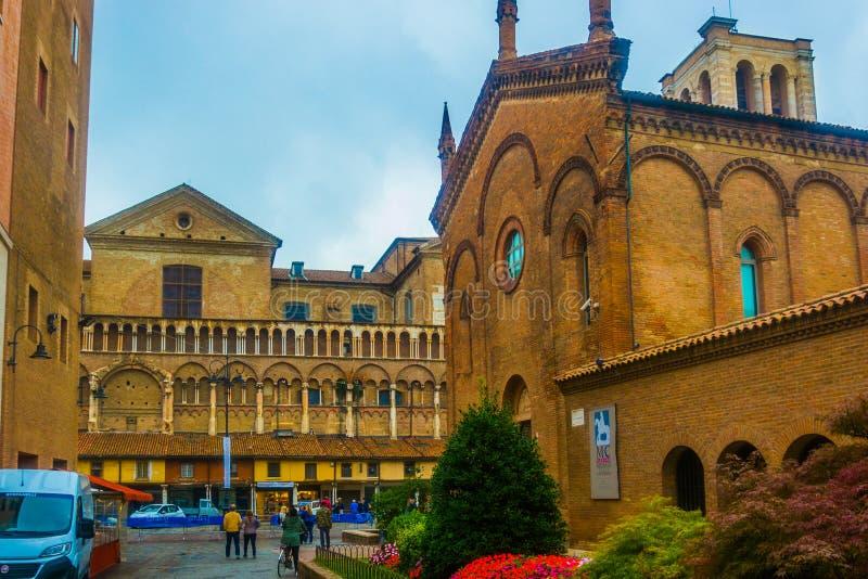 Centro storico di Ferrara. Città del centro Italia in Emilia Romagna stock images
