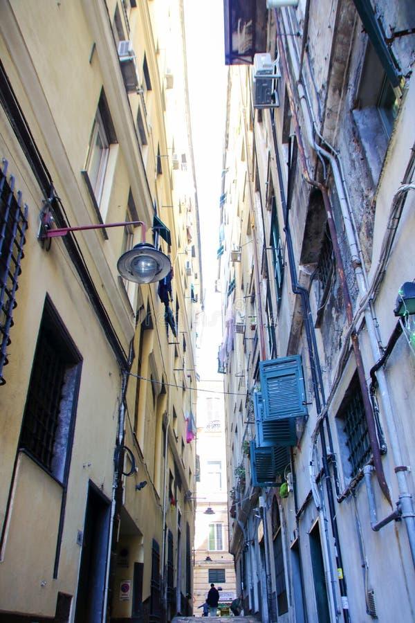 Centro storico di Genova immagini stock libere da diritti