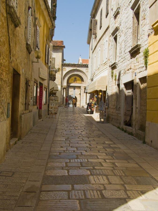 Centro storico di Porec - il Croatia fotografia stock