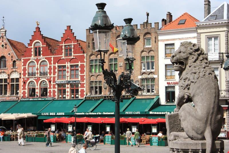 Centro storico medievale di Bruges nel Belgio fotografie stock libere da diritti