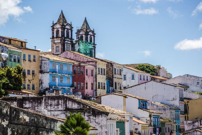 Centro storico Pelourinho, Salvador, Bahia, Brasile immagine stock