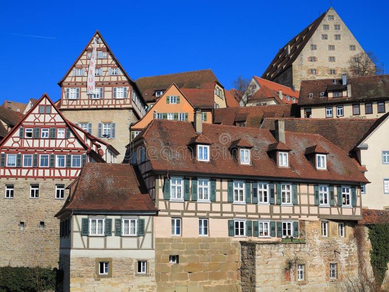 Centro storico Schwäbisch Corridoio fotografia stock libera da diritti