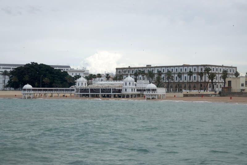 Centro subaquático da arqueologia na praia de Caleta do la no diz do ¡ de CÃ, Espanha imagem de stock royalty free