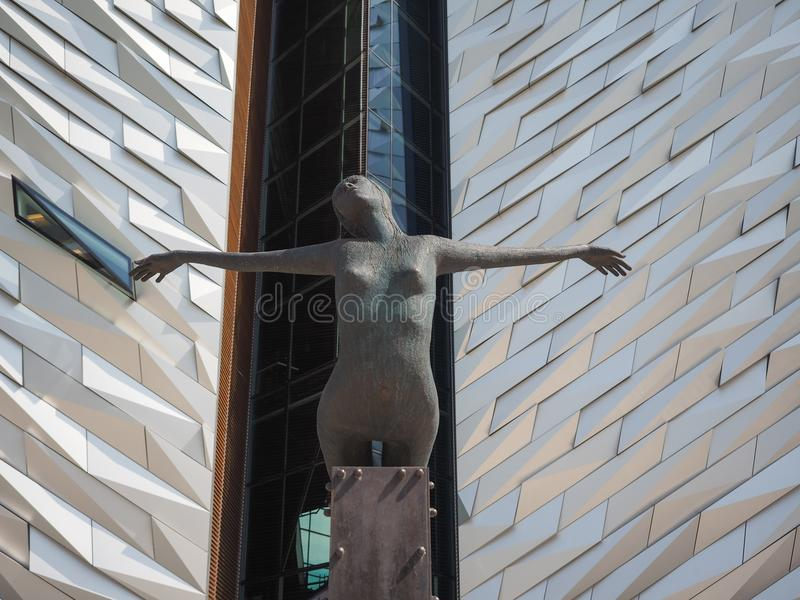 Centro titánico de Belfast foto de archivo