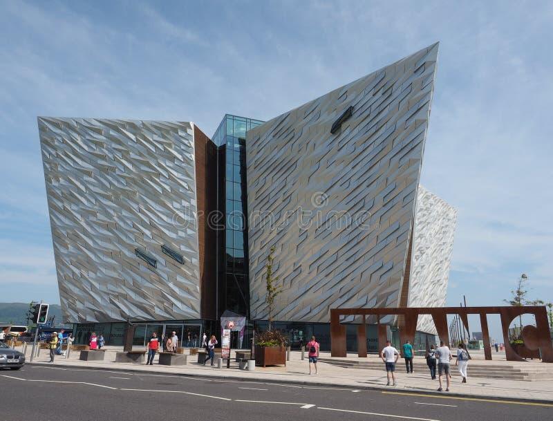 Centro titánico de Belfast imagen de archivo libre de regalías